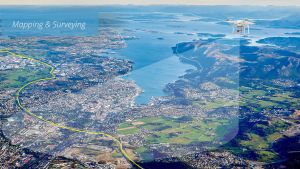 aerial filming and photography for geography mapping and surveying